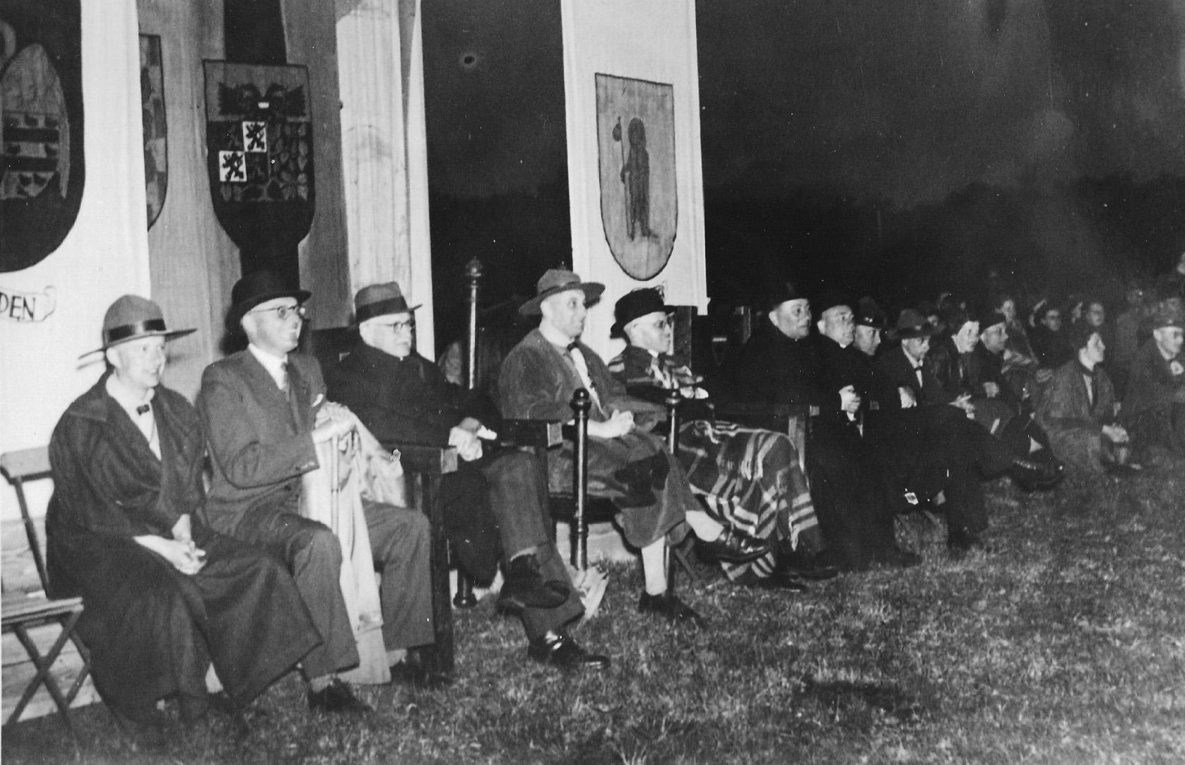 1938 Verkennersbeweging vierde feestelijkekoempoelan op de theerheide