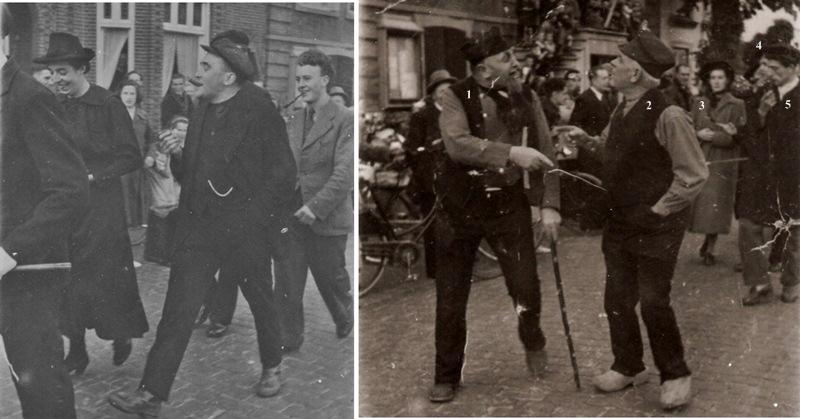 1945/46 Bevrijdingsoptocht toneelspelers van Groep van Lieshout
