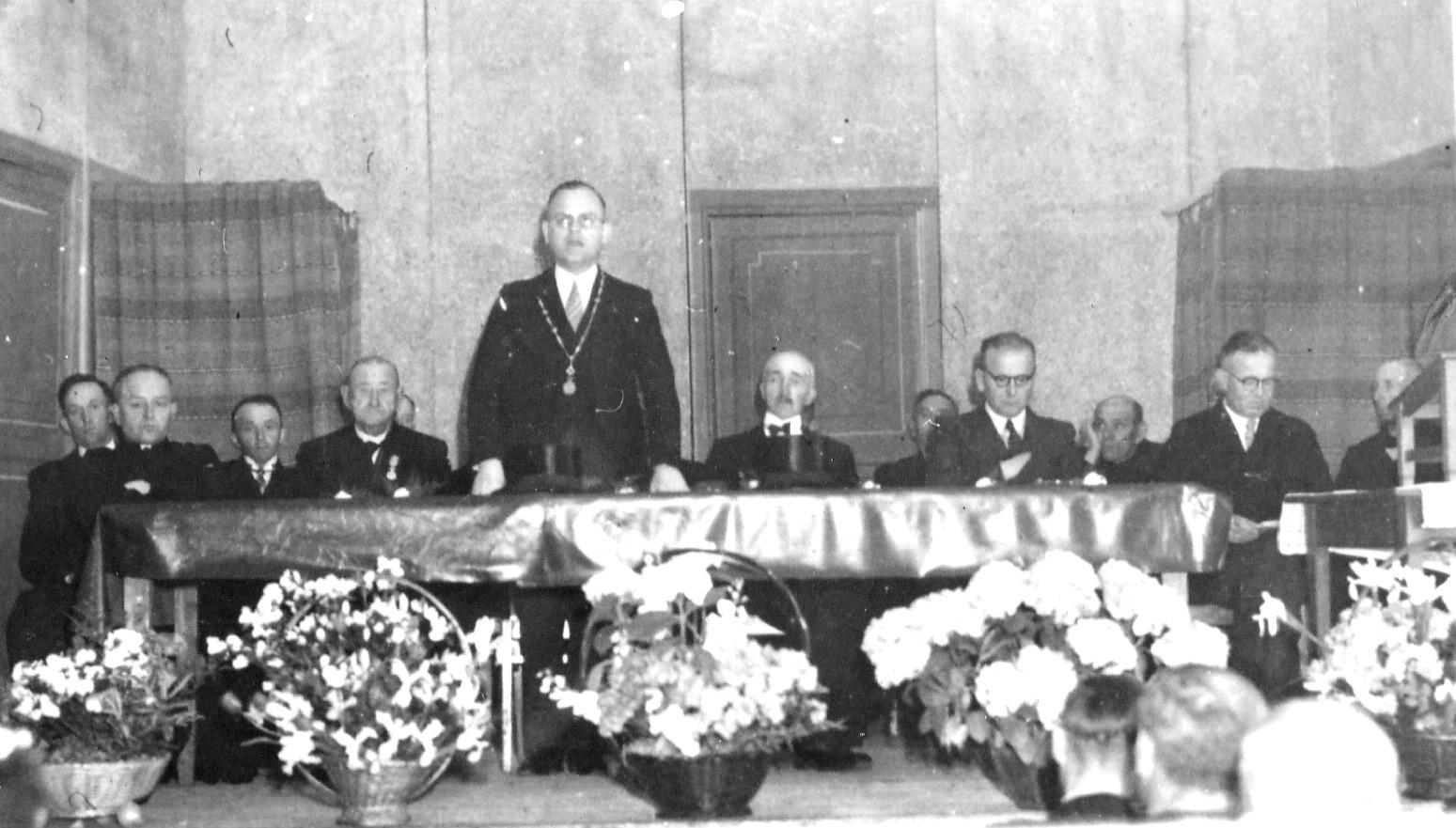 ca1947 Bestuur boerenbond, mogelijk tgv 50jarg bestaan