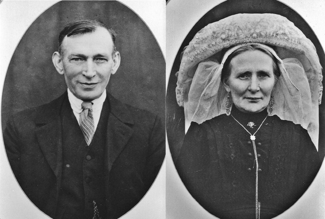 ca1930 Janus Schellekens 1876-1947 ghm -Dien- Anna Maria Schellekens - van den Oetelaar 1874-1962