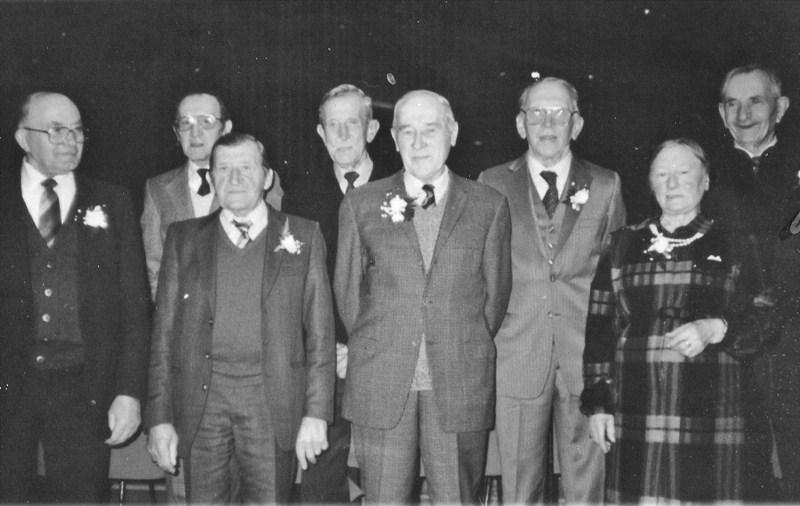 ca1987 Jubilarissen van de NCB boerenbond (bijv. 50 of 60 jaar lid) bij het 90 jarig bestaan
