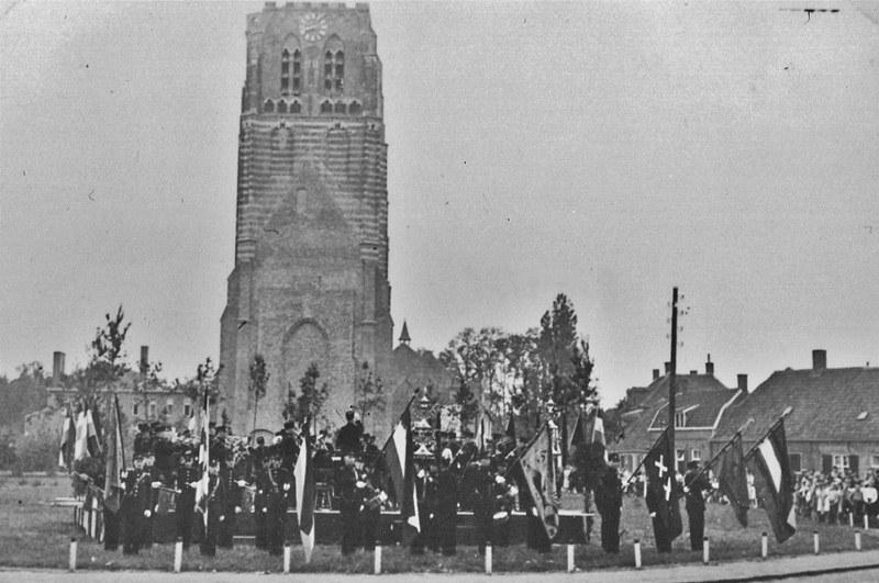 1939 Muziekuitvoering door Harmonie uit 's-Hertogenbosch, voor de gemobiliseerde militairen