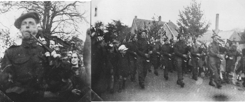 1944/45 Schotse pijper van de Black Watch