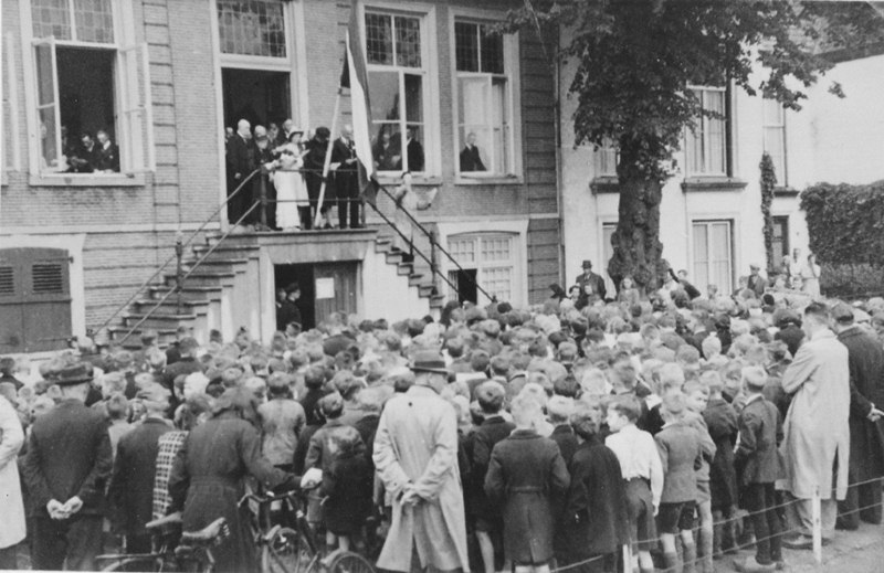 25 mei 1943 installatie burgemeester Roelofsz