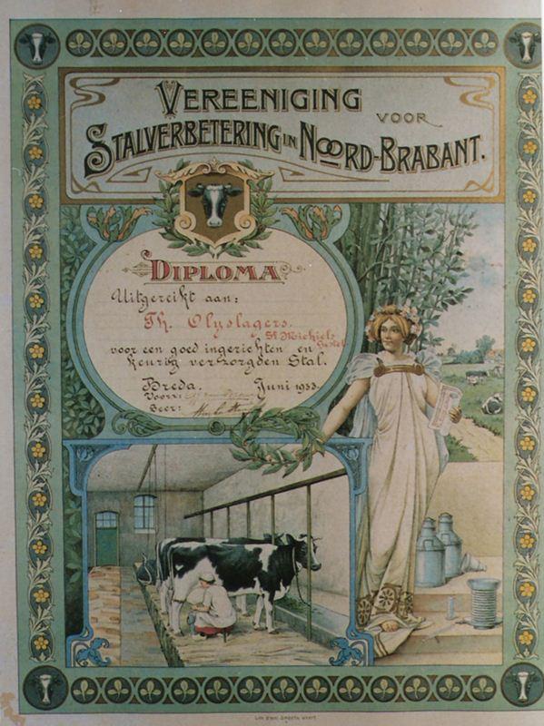 1933 Juni, Diploma stalverbetering voor Th. Olijslagers