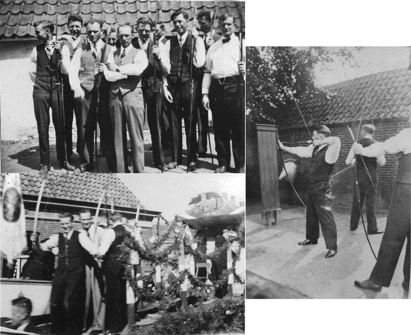 1947 Handboogschutterij  de Unie van 1840 en tijdens het bevrijdigsfeest