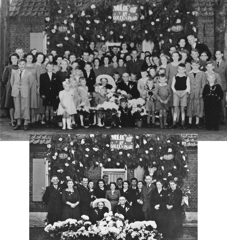 1949 50 jarig huwelijk, Hermes van de Westelaken 1876 + 1963 X Regien van de Ven 1877 + 1957