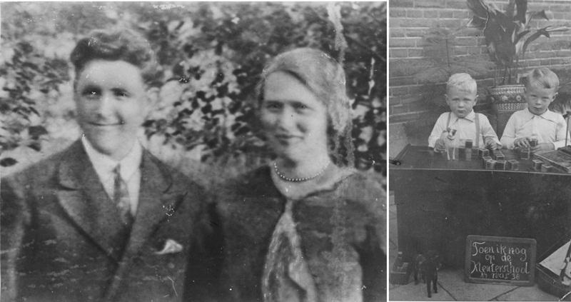 ca1940 Ep Nard Sanders en Tonia Schellekens met kleinkinderen