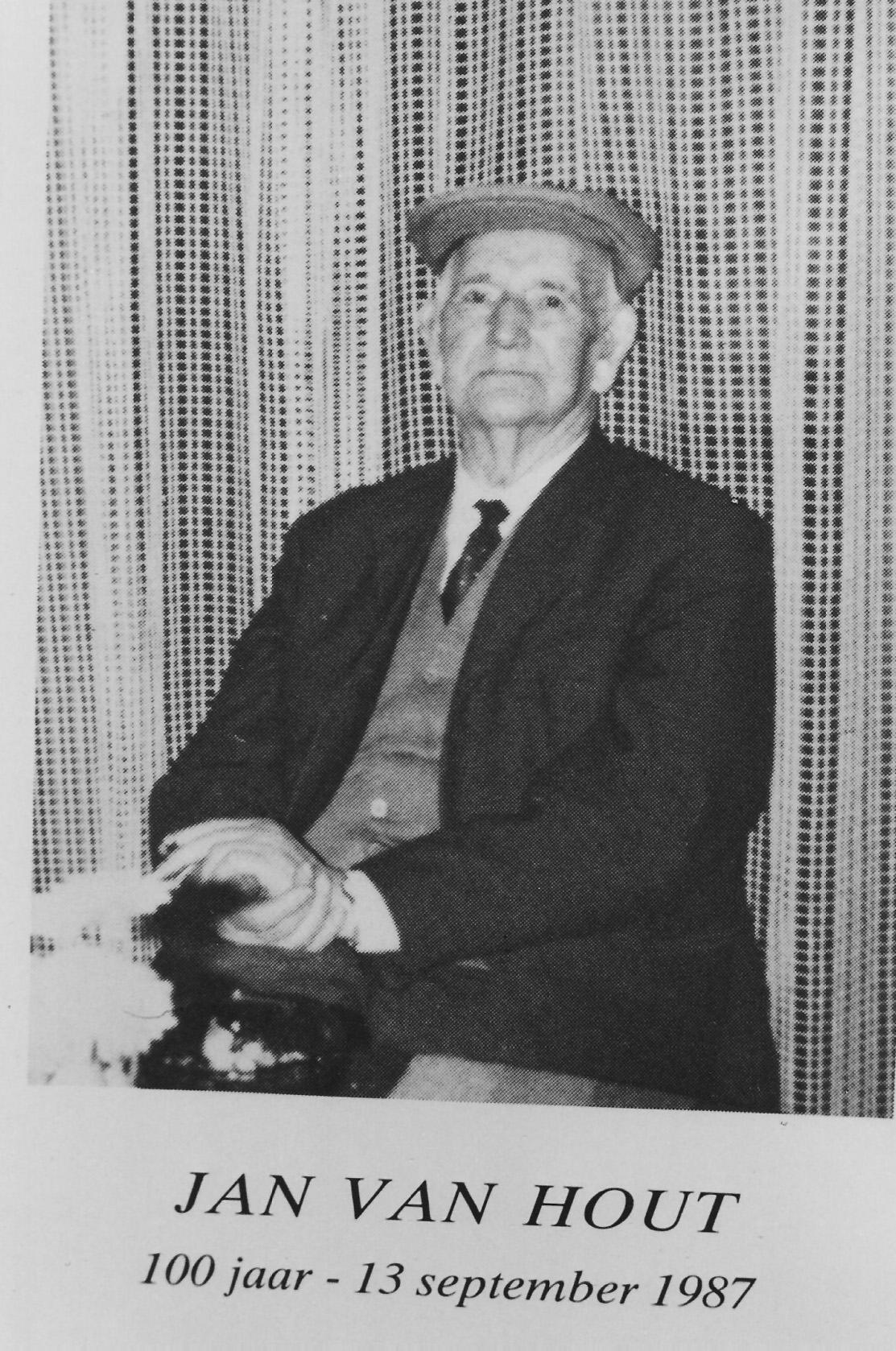 1987, 13 september, Jan van Hout, 100 jaar