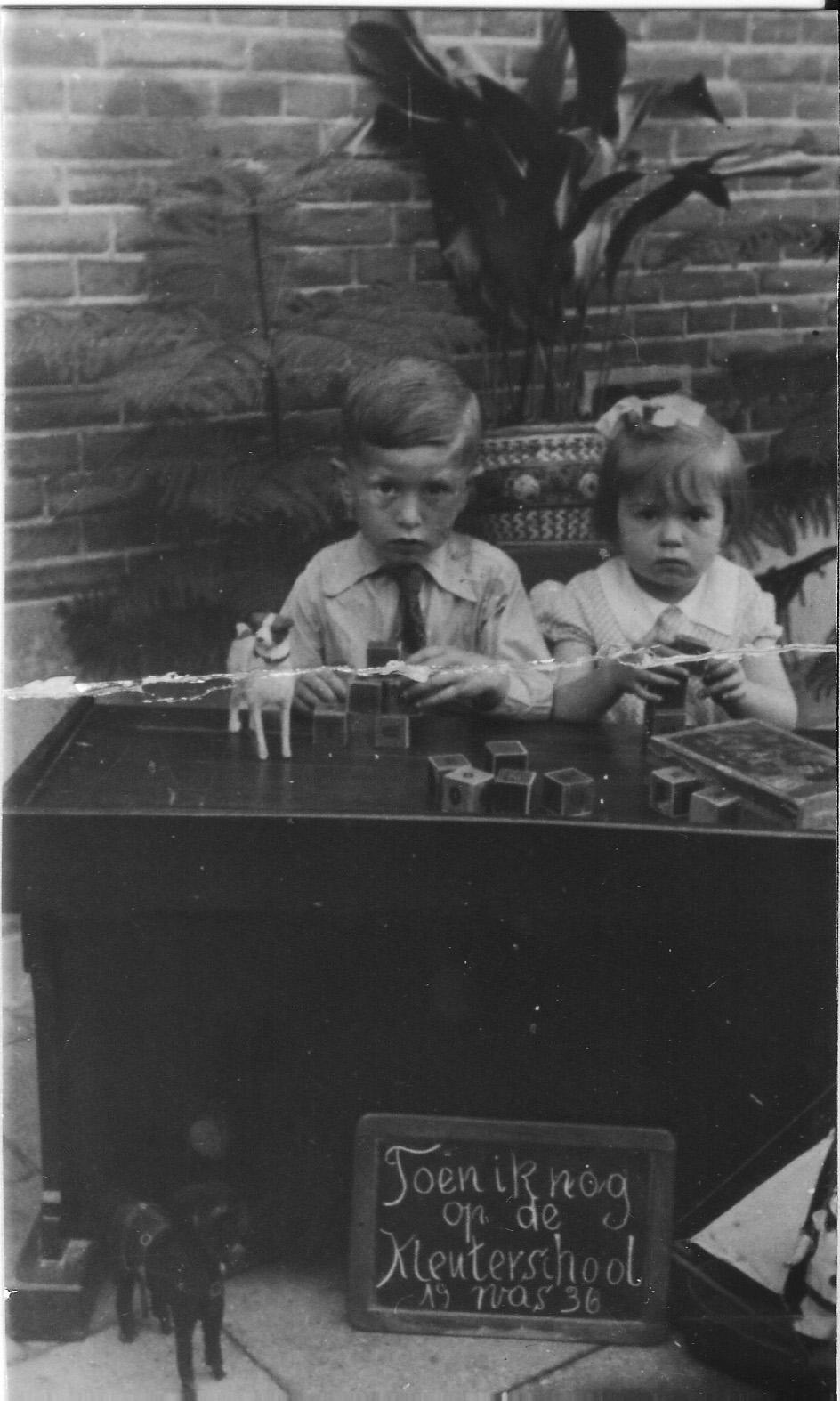 1936 Coen en Ria van Buuren , van de fietsenmaker