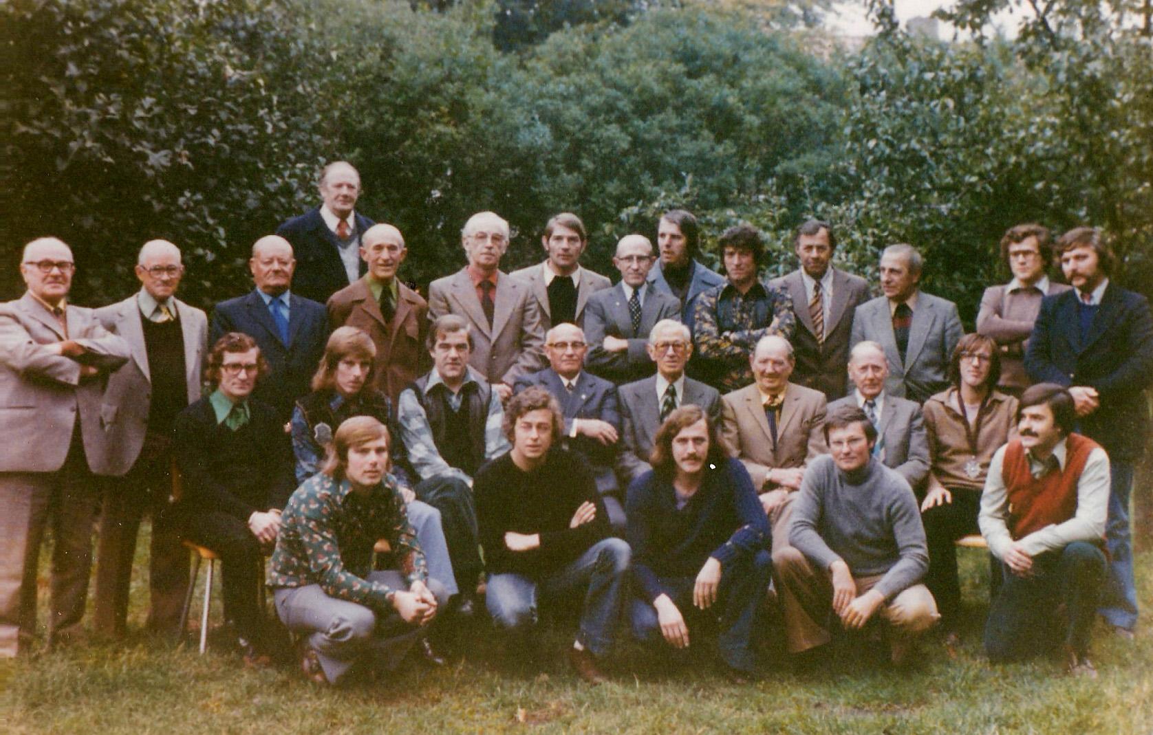 1973 Laatste teerdag van de Unie van 1840 bij café Immens