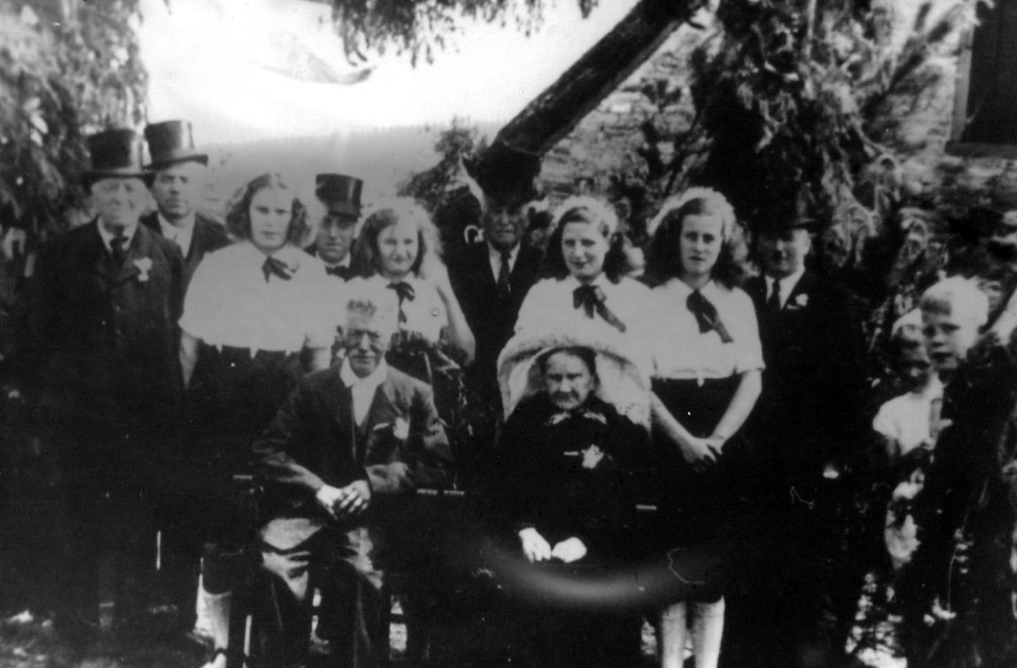 1935 Gouden bruiloft Grardje Timmermans X Mvr. van Roosmalen