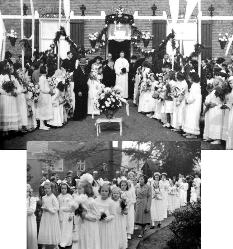 1949 Priesterwijding Kees Dijkstra aan de  Schijndelseweg
