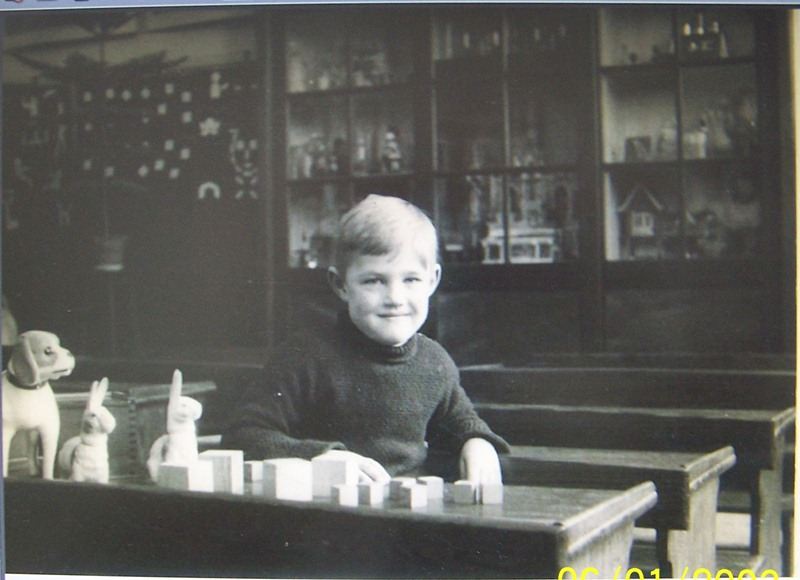 ca1940 Martien van Griensven, 6 jaar, kleuterschool