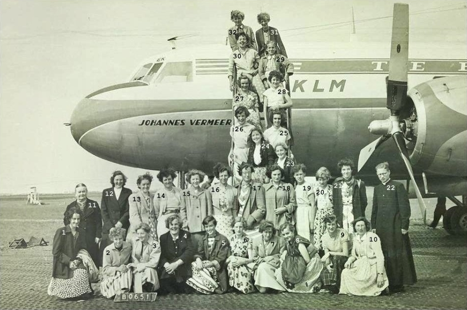 1952/53 Katholieke meisjes, Zelatrices, naar Schiphol