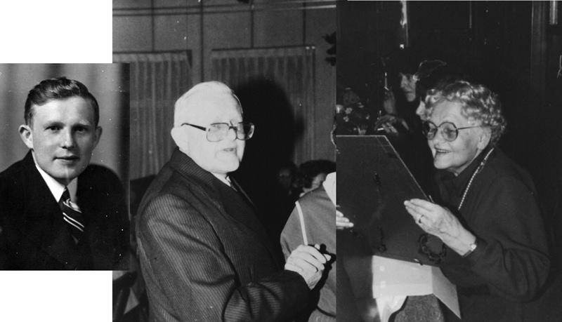 ca1960 Marinus van Vessem kleermaker met zijn zus Marietje van Vessem
