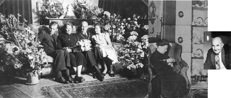 ca1943 Burgemeester Roelofsz met vrouw, zoon en dochter