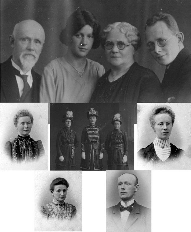 ca1910/1930 Familie Louis van Rooij kleermaker priesterkleding X Maria Potters en kinderen