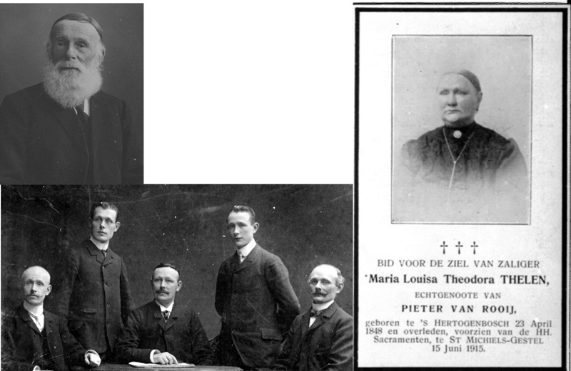 ca1910 Familie Pieter van Rooij X Maria Louisa Theodora Thelen met kinderen en kleinkinderen