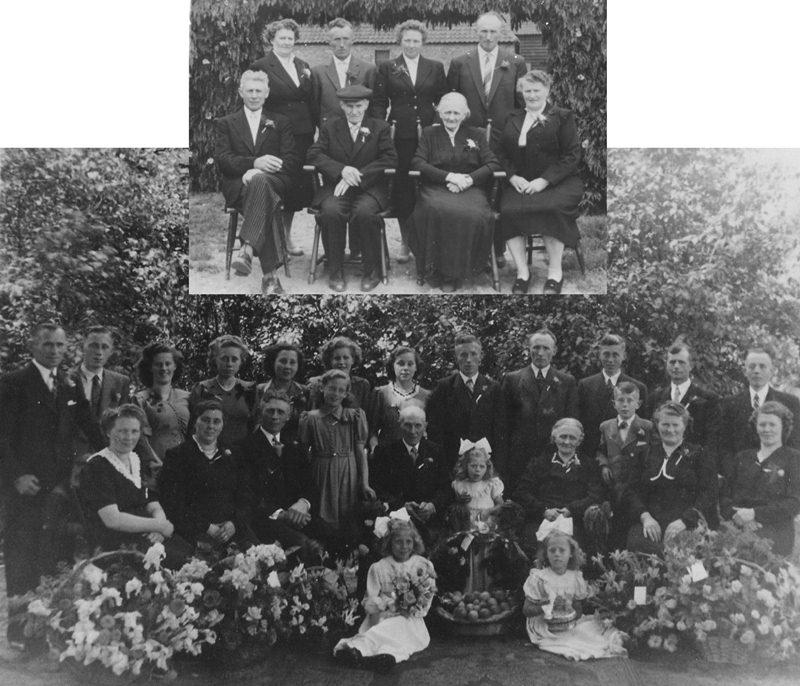 ca1950 60 jarige bruiloft Dorus Olyslagers X Jaan van  de Westelaken