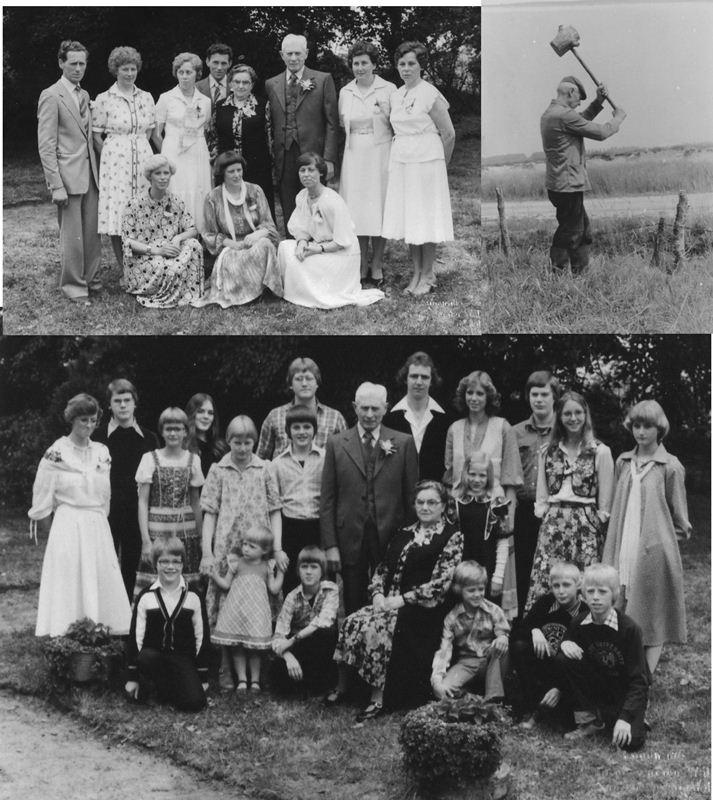 ca1980 Gouden bruiloft Jan Olijslagers X Helena van de Meijden