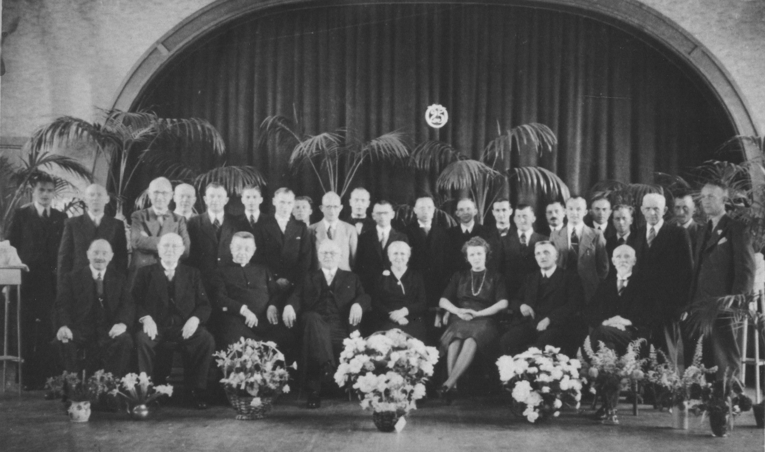 ca 1950 25 jarig jubileum organist A.J.Jansen
