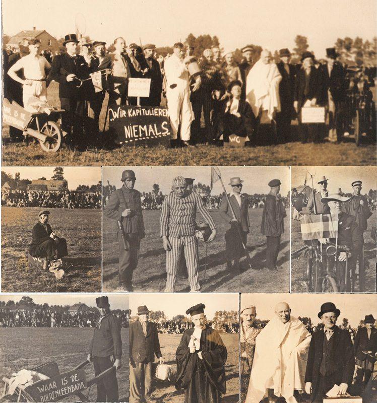 1945/46 Gekostumeerde voetbalwedstrijd en sportdag