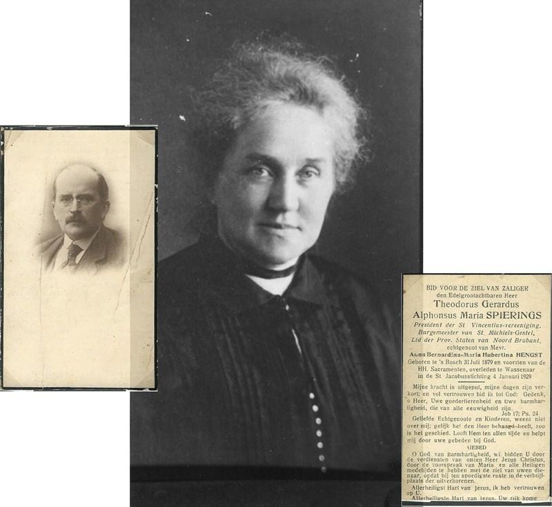 ca1910 Anna Bernhardina Maria Spierings-Hengst, de vrouw van burgemeester The.Ger.Alp. Spierings