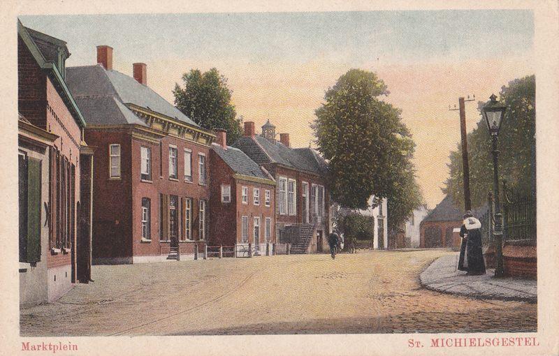 voor1930 Marktplein, doorkijk vanuit de Torenstraat
