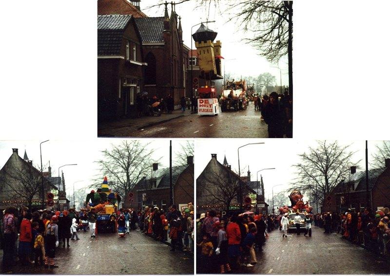 Jaren 1970 Carnaval in de Torenstraat met Kapel