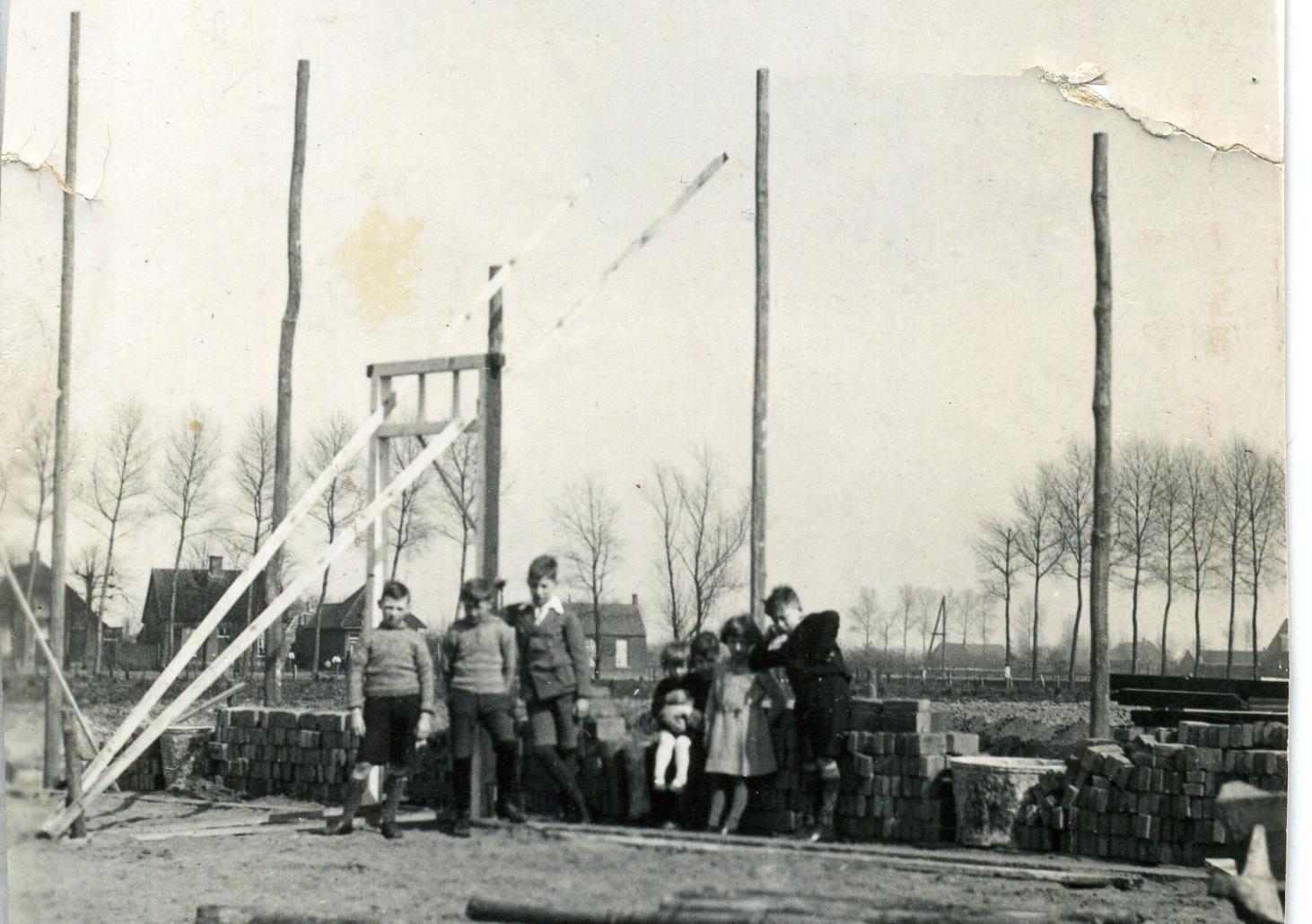 1934 Najaar, Timmerwinkel van der Linden in aanbouw