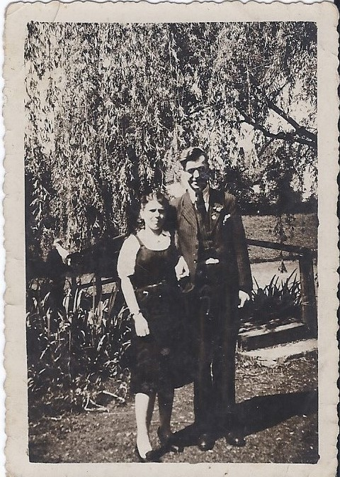 1944 Gerardus Timmermans 1920-1950 met echtgenote Alexandra Parachenko, in 1944