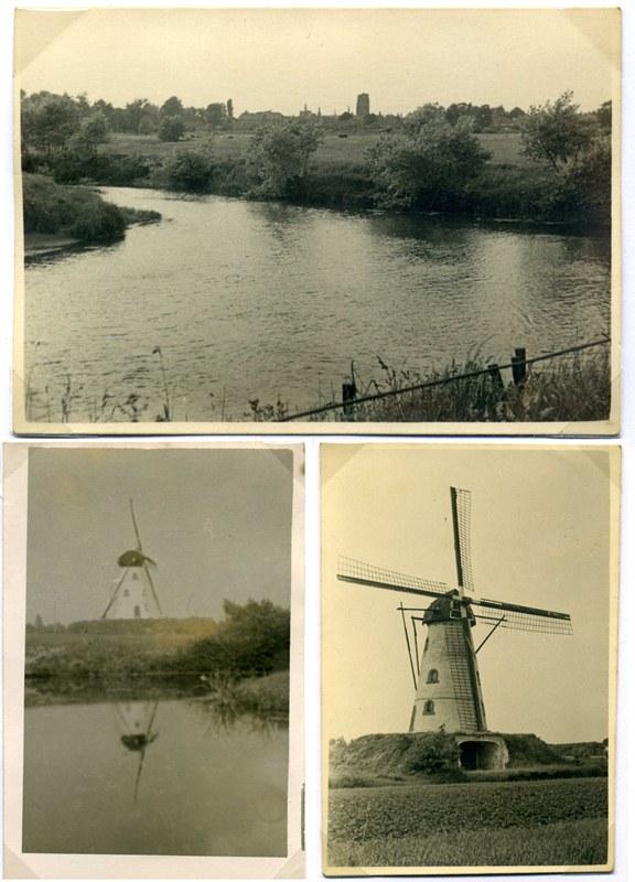 ca1955 Uitzicht op het Dorp vanuit de molen op de Genenberg over de nu stille arm van de Dommel