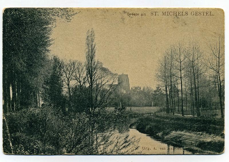 ca1925, voor 1931: Oude  loop van de Dommel aan de Nieuwstraat.