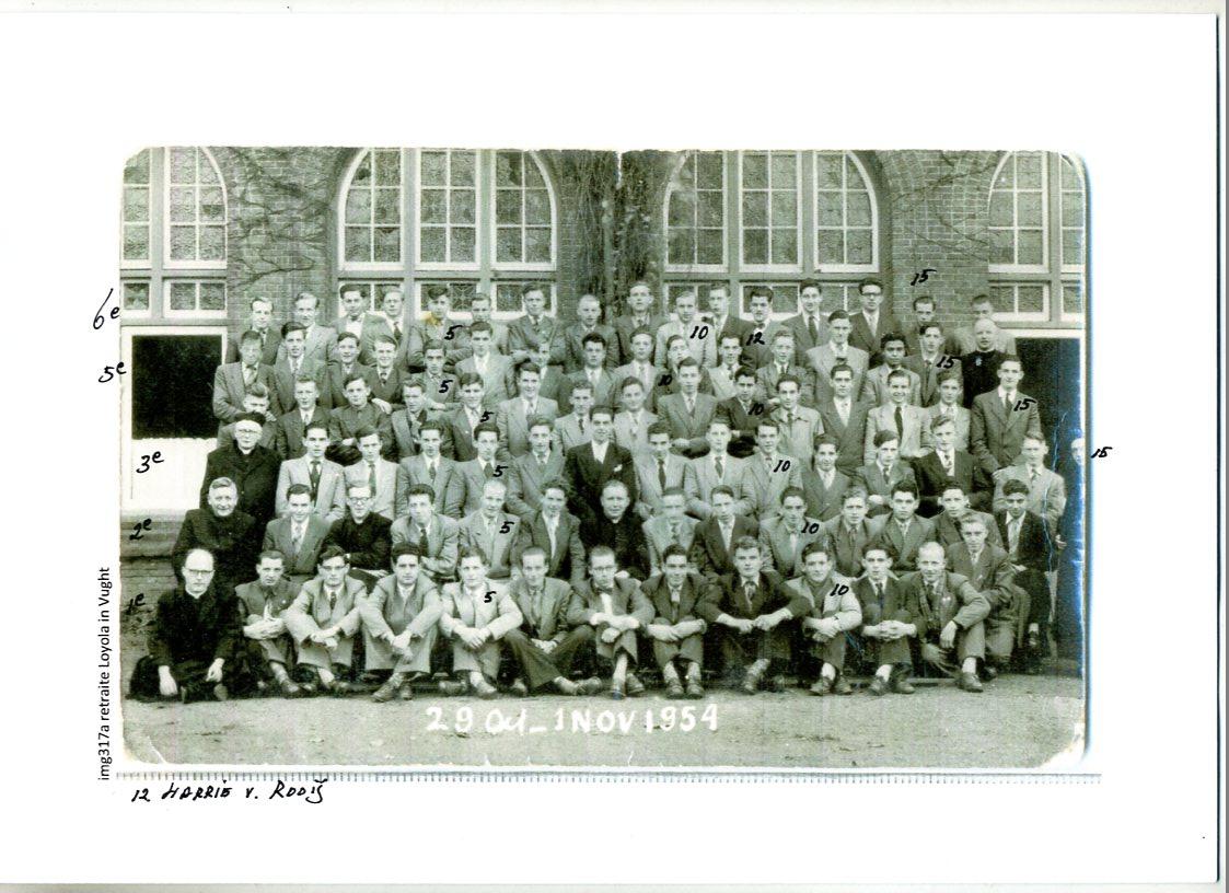 1954 29 oct - 1 nov Retraite, huize Loyola te Vught. Wie kent ze?