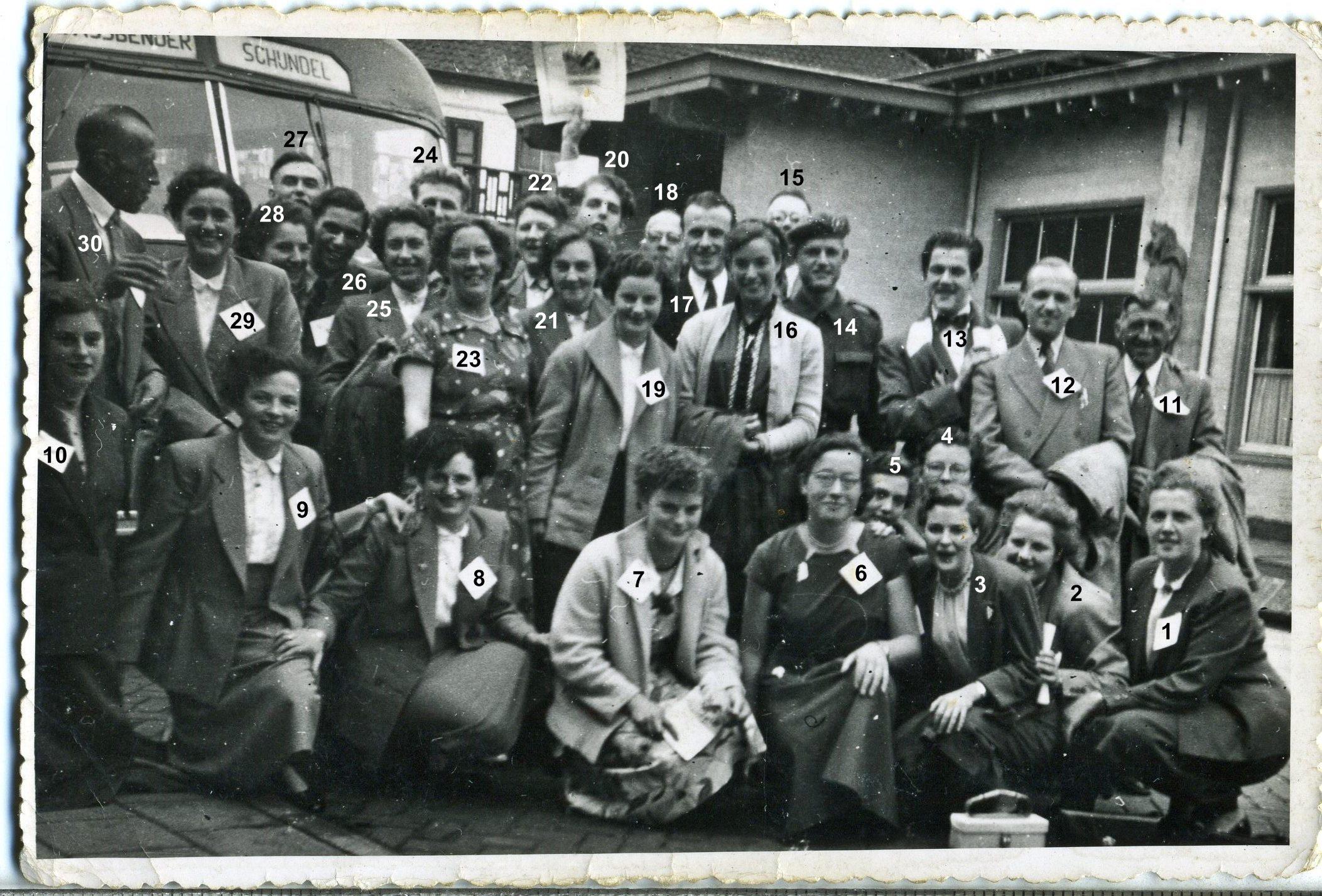 5 september 1954 Gemengd Michael zangkoor bij het behalen van de eerste prijs in Oisterwijk